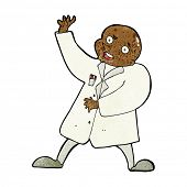 cartoon mad scientist