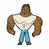 cartoon body builder