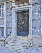 elegant house entrance, Athens Greece