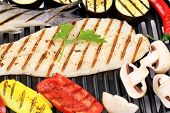 picture of pangasius  - Grilled fillet of pangasius - JPG