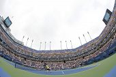 Arthur Ashe Stadium during US Open 2013 doubles match at Billie Jean King National Tennis Center