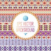 Seamless pattern with geometric elements