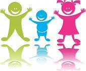 Cheerful happy children