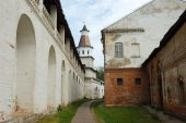 Medieval monastery in New Jerusalem, Russia poster