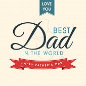 Beautiful greeting card for Happy Father's Day occasion with stylish text and line art illustration