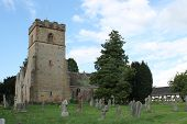 stock photo of church-of-england  - English medieval church with tower  - JPG