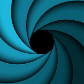 Abstract background blue rainbow swirl