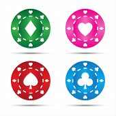 Simple colored poker chips