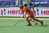 THE HAGUE, NETHERLANDS - JUNE 1: Dutch player Jonker is playinge the ball, Argentinian player Rey is