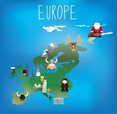 image of guinness  - Detailed map of Europe in a child friendly style - JPG