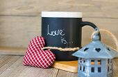 Love Is Note On The Mug