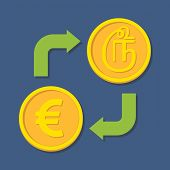 Currency Exchange. Euro And Tamil Rupee.