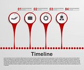 Infographics Timeline Concept.