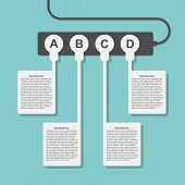 Infographics Design Style Power Outlet With Plugs.