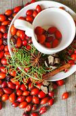 Christmas Time Table Decoration With Rose Hips