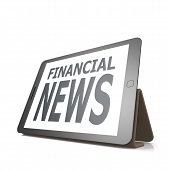 Tablet With Financial News Word