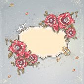 picture of ring-dove  - Wedding invitation card - JPG