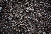 Black Coal Textured Background