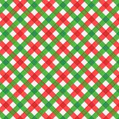 Christmas red and green gingham fabric, seamless pattern included