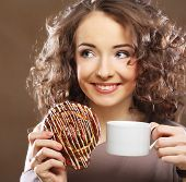 woman with a cup of espresso coffee