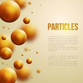 Abstract molecules design. Vector illustration.