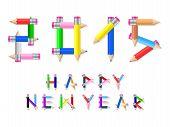 Happy New Year Pencil