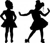 kleine Kinder glücklich silhouette