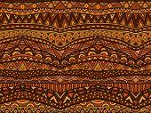 Warm Brown Ethnic Pattern