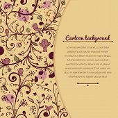 Floral vintage vector illustration with space for text