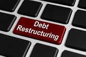 Debt Restructuring Button On Keyboard