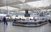 Stansted airport, luggage waiting area