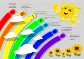Cartoon Rainbow Infographics
