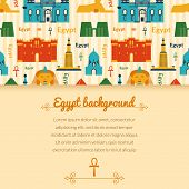 Landmarks of Egypt background