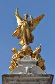 Golden Angel Memorial Statue In London Uk