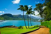 pic of pacific islands  - Beautiful view of Nawiliwili Kauai Island Hawaii USA - JPG