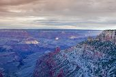 Astonishing And Breathtaking View Of Grand Canyon Sight In The Very Early Morning