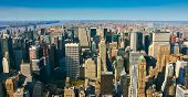 Aerial Panoramic View Over Upper Manhattan