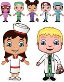 Doctor and Nurse Children set 4