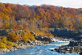 Great Falls National Park in autumn Virginia USA