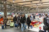 Oslo Gardermoen, Norway - November 3:interior Of Duty Free Shop At Oslo Gardermoen International Air
