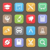 Education icons for web or mobile. Vector