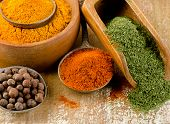 Colourful Dried Ground Spices