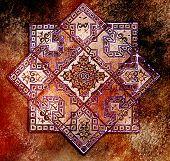 Grunge And Vintage Geometrical Background