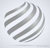 Business Technology Abstract Sign. Spiral In The Form Of A Circle