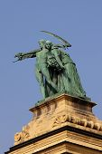 pic of heroes  - War Heroes Monument in Hero Square Budapest Hungary - JPG