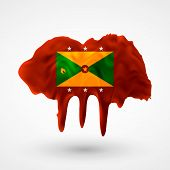 Flag of Grenada painted colors
