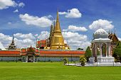 Greensward And Golden Pagoda