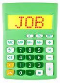 Calculator With Job On Display Isolated