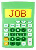 Calculator With Job On Display Isolated