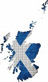 Scotland map with flag inside